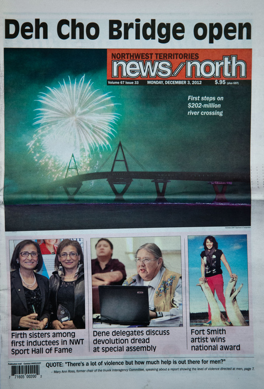 Bill Braden's photo on the cover of NNSL's News North